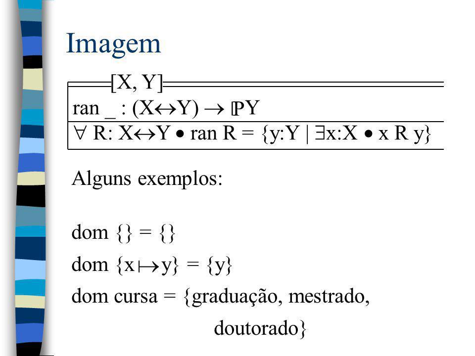 Imagem [X, Y] ran _ : (XY)  Y